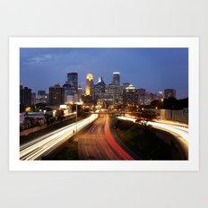 Minneapolis Skyline - 35w View Art Print