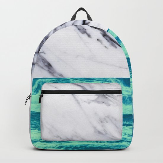Marble Ocean iPhone Case and Throw Pillow Design Backpack