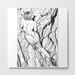 asc 347 - La fille mordue par un lézard (Girl bitten by a lizard) Metal Print