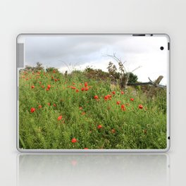 Poppies on a Hill Laptop & iPad Skin