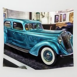 Vintage 1934 Hupmobile Aerodynamic Painting Wall Tapestry