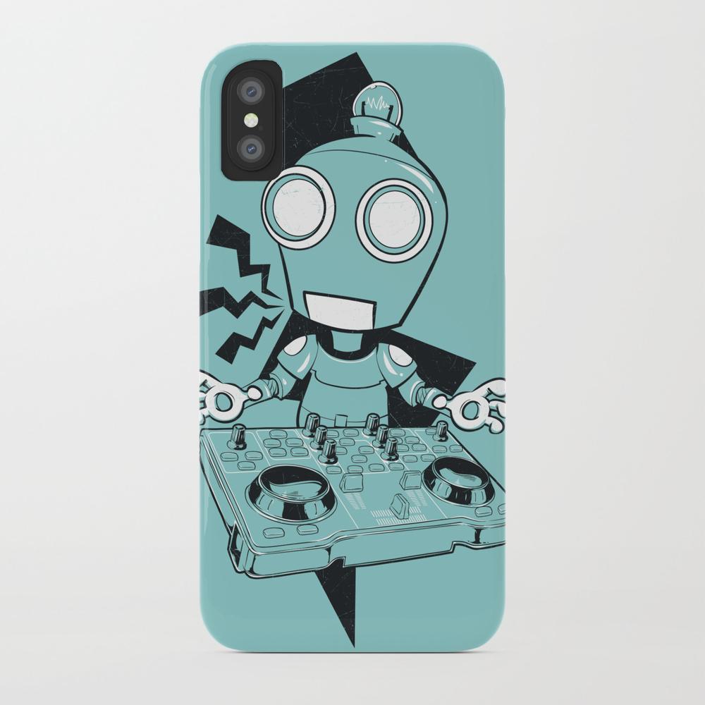 Robot Dj Phone Case by Tshirt_factory PCS828243