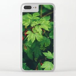 Fresh Forest Foliage Clear iPhone Case
