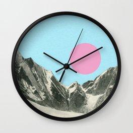 Winter Sun Wall Clock