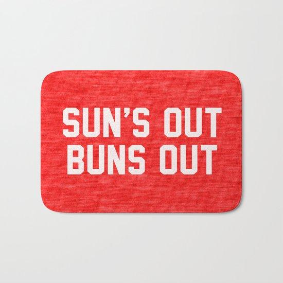 Suns Out Buns Out Bath Mat