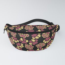 Magenta Cute Paws Fanny Pack