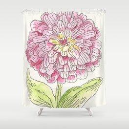 Zinnia Burst Shower Curtain