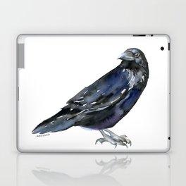 Raven Watercolor Nevermore Laptop & iPad Skin