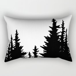 Dense Forest Tree Line Rectangular Pillow