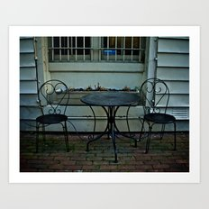 Table for 2 Art Print