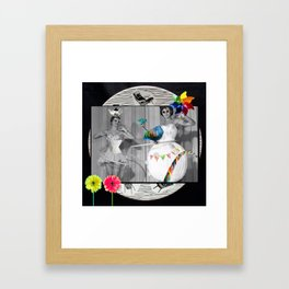 Hooping Homemakers with a blue fish (and other things) Framed Art Print
