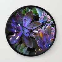 secret life Wall Clocks featuring The Secret Life of Plants by Slow Toast