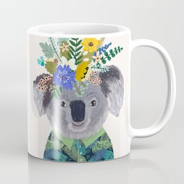 Koala with flowers on head Coffee Mug