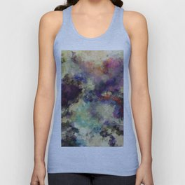 Contemporary Abstract Painting in Purple / Violet Color Unisex Tank Top