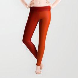 Ombre in Red Orange Leggings