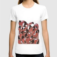 flamingos T-shirts featuring Flamingos by Ollie Bright Art
