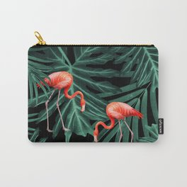 Summer Flamingo Jungle Night Vibes #2 #tropical #decor #art #society6 Carry-All Pouch