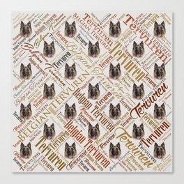 Belgian Tervuren Word Art Canvas Print