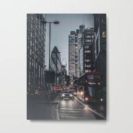 Black out - London Metal Print