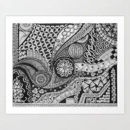 Zentangle®-Inspired Art - ZIA 34 Art Print