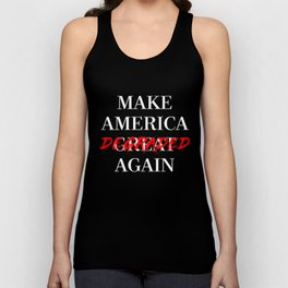 MAKE AMERICA DEGRADED AGAIN - RED/BLACK Unisex Tank Top