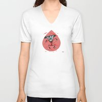 vampire diaries V-neck T-shirts featuring Vampire by Giuseppe Lentini