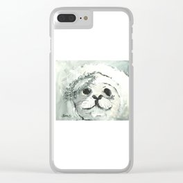 White Seal Clear iPhone Case