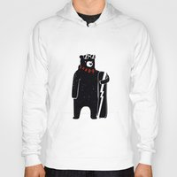 snowboard Hoodies featuring Bear on snowboard by SpazioC