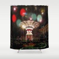 copenhagen Shower Curtains featuring Tivoli Gardens Copenhagen by Created by Eleni
