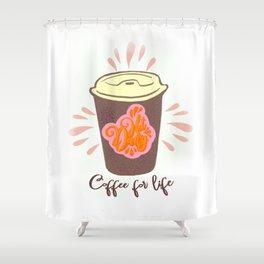 Hot dang coffee Shower Curtain