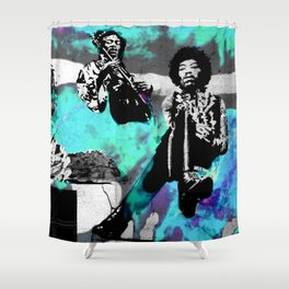 JIMI - 3 portraits Shower Curtain