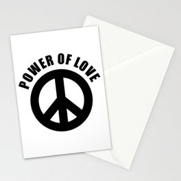 Power of Love, Black Peace Sign Black Text, Social Justice Warrior, Super Sharp PNG Stationery Cards