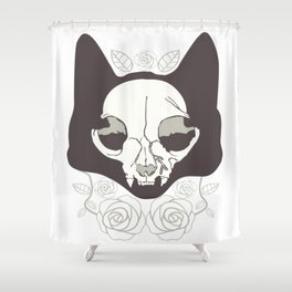 La Catrina Mexico Cat Skull Dead Cult Death Gift Shower Curtain