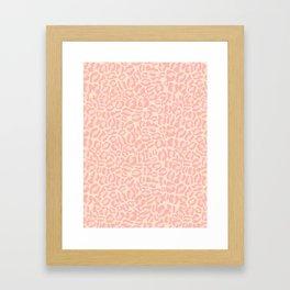 Leopard Print | Pastel Pink Girly Bedroom Cute | Cheetah texture pattern Framed Art Print