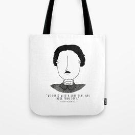 Literary Love: Edgar Allan Poe Tote Bag