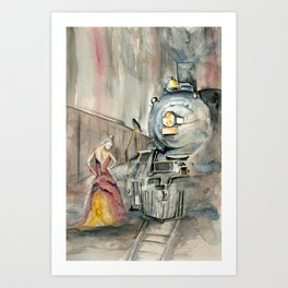 Mistress of the Train Art Print