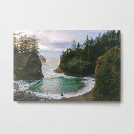 Hidden Cove on the Oregon Coast Metal Print