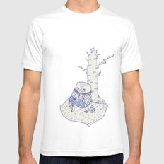 the tree. SMALL Mens Fitted Tee White
