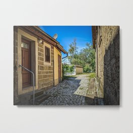 Historical house at the end of a Bavarian village Metal Print