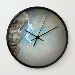 Cliffhanger Wall Clock