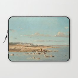 Paul Guigou Washerwomen on the Banks of the Durance 1866 Painting Laptop Sleeve