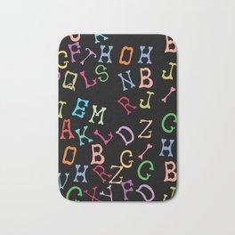 Alphabet - Black Bath Mat