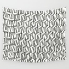 Wood Cubes Wall Tapestry
