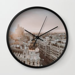 Spain II / Madrid Wall Clock