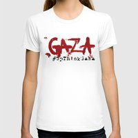 palestine T-shirts featuring #OpThinkGaza by Mother Shipton