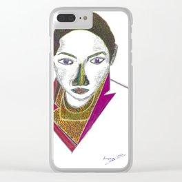 Woman Portrait no 1 Clear iPhone Case