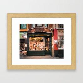 Stamp Shop in Gent Framed Art Print