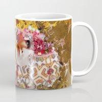 rose gold Mugs featuring Rose. Gold by Steve W Schwartz Art