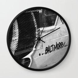 BW Baltimore Wall Clock