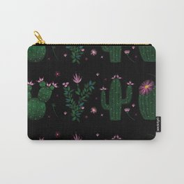 Cactus Embroidery Carry-All Pouch